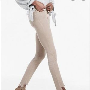 Ava Skinny Mid Rise with unfinished hems